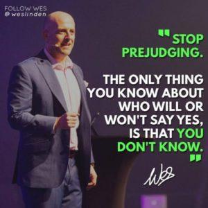 Stop prejudging - Wes Linden (Utility Warehouse)