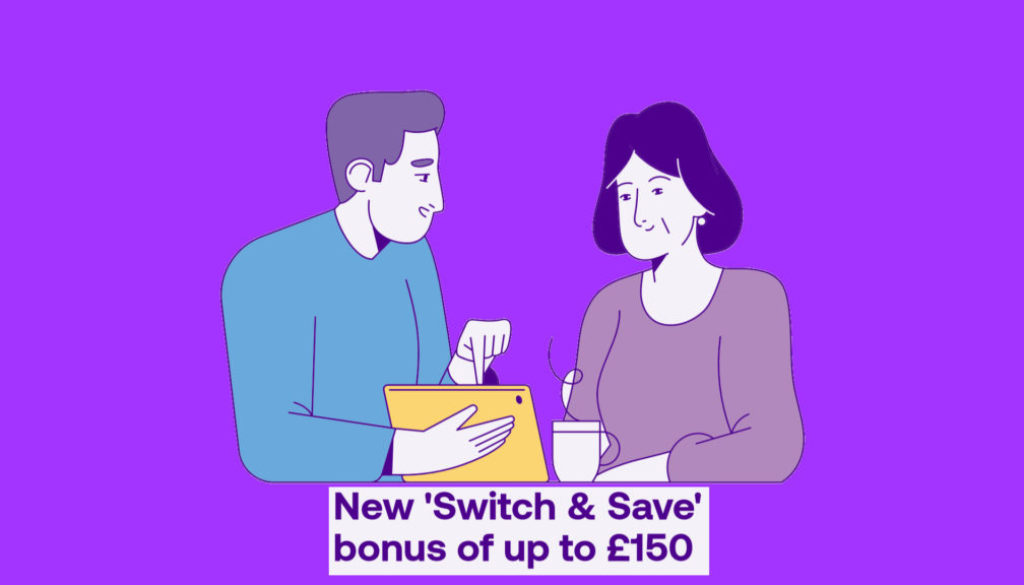 new Utility Warehouse switch and save bonus £150